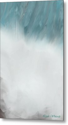 Digital Falls Metal Print