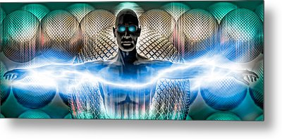 Digital Man Metal Print by Panoramic Images