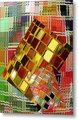 Digital Mosaic Metal Print by Sarah Loft