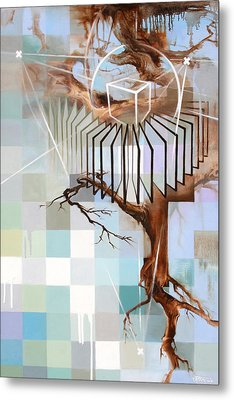 Metal Print featuring the painting Digital Organic by Dave Platford