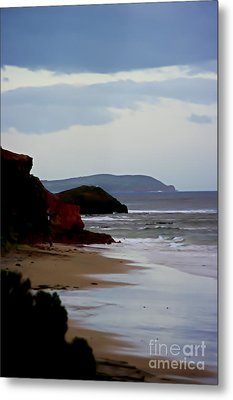 Digital Painting Of Smiths Beach Metal Print