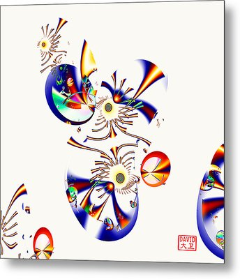 Digital Picasso - Tweet Tweet Metal Print