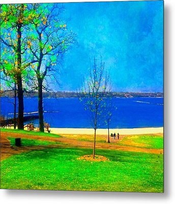 #digitalart #landscape #beach #park Metal Print