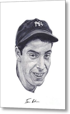 Metal Print featuring the painting Dimaggio by Tamir Barkan