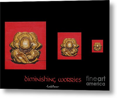 Metal Print featuring the painting Diminishing Worries by Linda Prewer