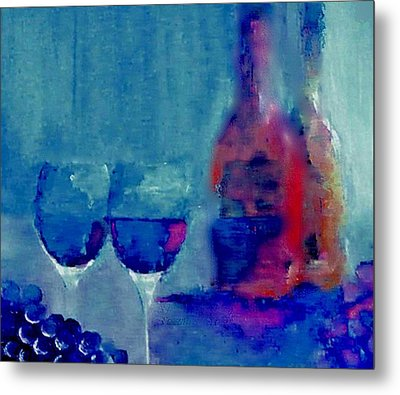 Dine With Wine Metal Print by Lisa Kaiser