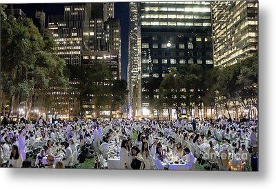 Diner En Blanc New York 2013 Metal Print