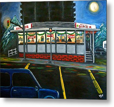 Diner In Arlington Metal Print by Victoria Lakes
