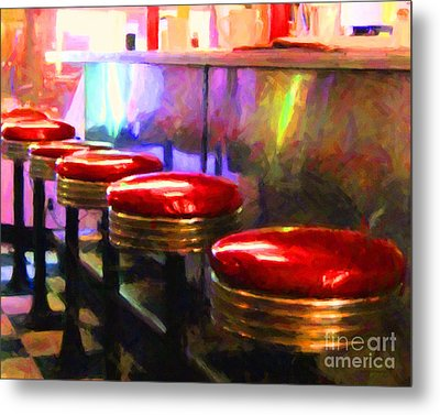 Diner - V2 - Horizontal Metal Print by Wingsdomain Art and Photography