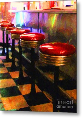 Diner - V2 Metal Print by Wingsdomain Art and Photography