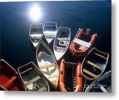 Metal Print featuring the photograph Dinghies And Rowboats - Maine by David Perry Lawrence