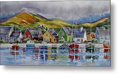 Dingle-harbour-1 Metal Print by Nancy Newman