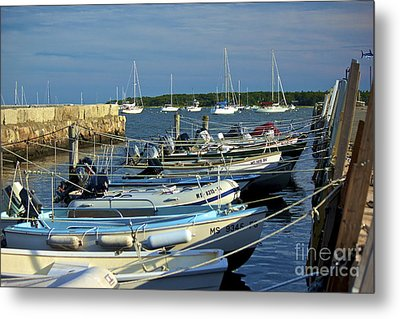 Dingy's Of Mattapoisett  Metal Print by Amazing Jules
