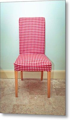 Dining Chair Metal Print by Tom Gowanlock