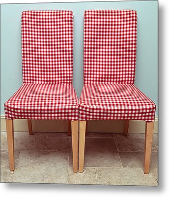 Dining Chairs Metal Print by Tom Gowanlock