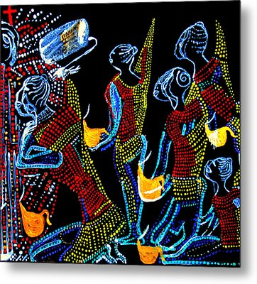 Dinka Wise Virgins Metal Print by Gloria Ssali