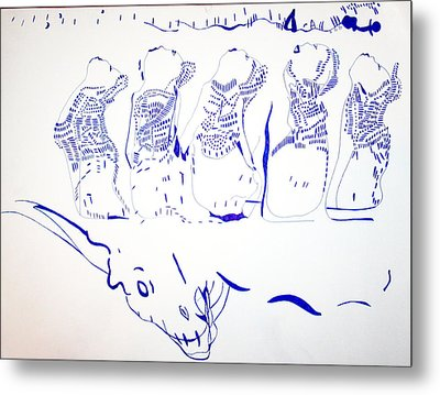 Dinka Wise Virgins -south Sudan Metal Print by Gloria Ssali