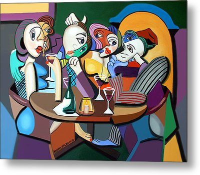 Dinner At Mario's Metal Print by Anthony Falbo