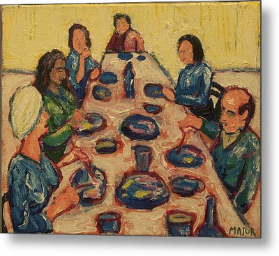 Metal Print featuring the painting Dinner Party by Clarence Major