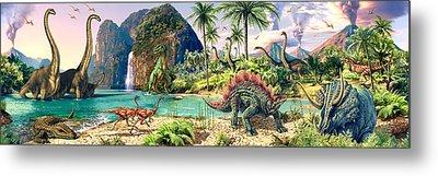 Dinosaur Volcanos Metal Print by Steve Read