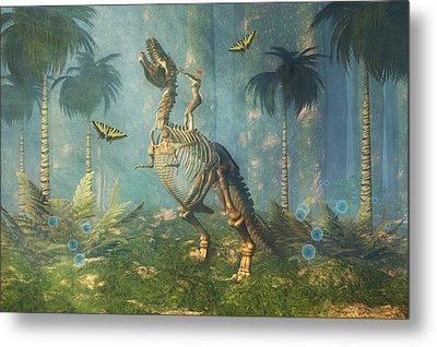 Dinosaur Warrior  Metal Print by Carol and Mike Werner
