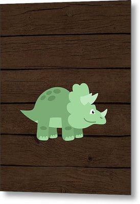 Dinosaur Wood II Metal Print