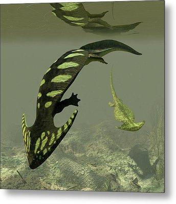 Diplocaulus Prehistoric Amphibian Metal Print