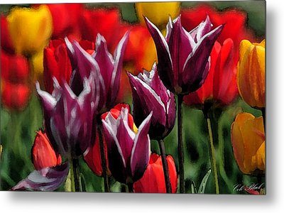 Dipped In White Metal Print by Cole Black