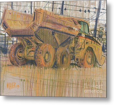 Dirt Mover Metal Print