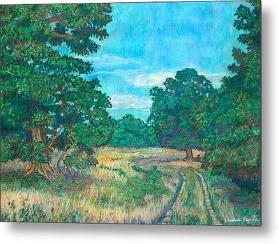 Metal Print featuring the painting Dirt Road Near Rock Castle Gorge by Kendall Kessler