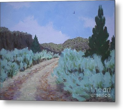 Metal Print featuring the painting Dirt Road by Suzanne McKay