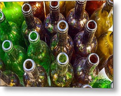 Dirty Bottles Metal Print by Carlos Caetano