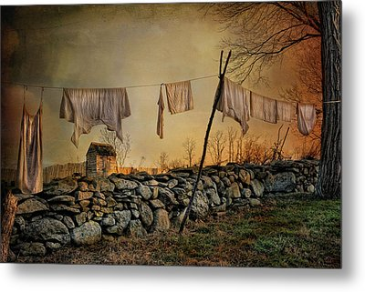 Linen On The Line Metal Print