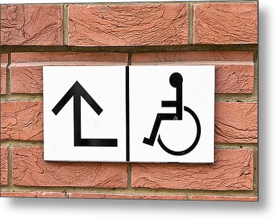 Disabled Sign Metal Print by Tom Gowanlock