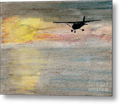 Disappearing Horizon Metal Print