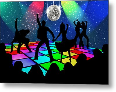 Disco Fever Metal Print by Nina Bradica