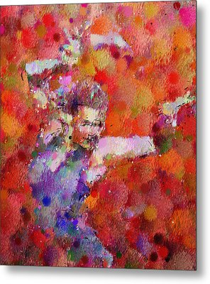 Disco Girl Contemporary  Metal Print by Georgiana Romanovna