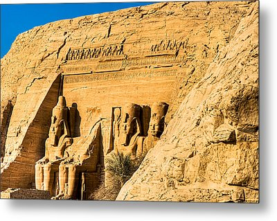 Discovering The Nubian Monuments Of Ramses II Metal Print by Mark E Tisdale