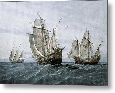 Discovery Of America 1492. The Caravels Metal Print by Everett