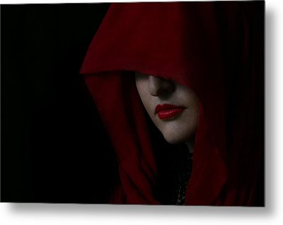 Disguised In Red Metal Print