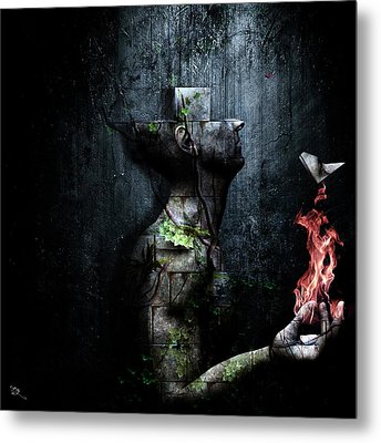 Dismantle The Dark We March On Metal Print