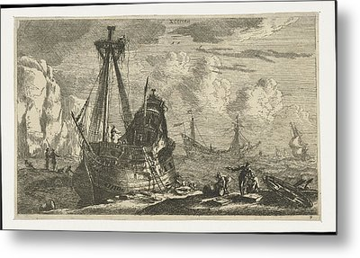 Dismantled Sailing Ship, Reinier Nooms Metal Print by Reinier Nooms