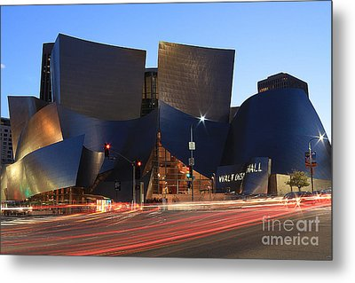 Disney Concert Hall Metal Print by Kevin Ashley