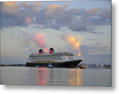 Disney Fantasy And Fireworks Metal Print
