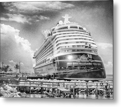 Metal Print featuring the photograph Disney Fantasy by Howard Salmon