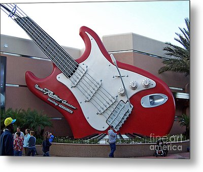 Metal Print featuring the photograph Disney Guitar by Tom Doud