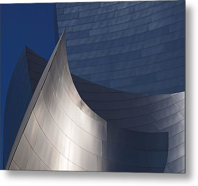 Disney Hall Abstract Metal Print by Rona Black