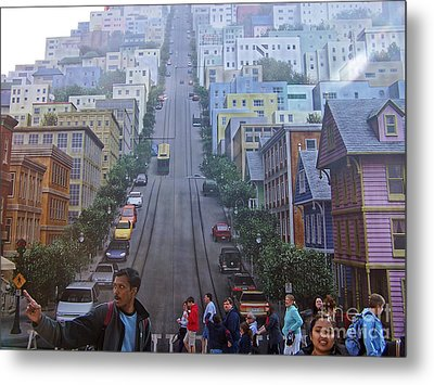 Metal Print featuring the photograph Disney Mural by Tom Doud
