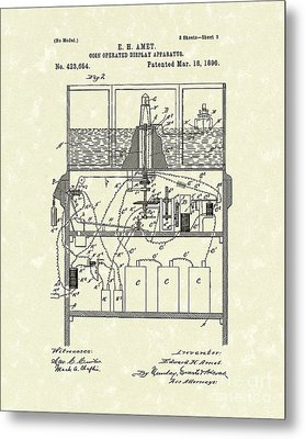 Display Apparatus 1890 Patent Art Metal Print by Prior Art Design