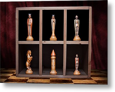 Display Of Strength Still Life Chess Metal Print by Tom Mc Nemar